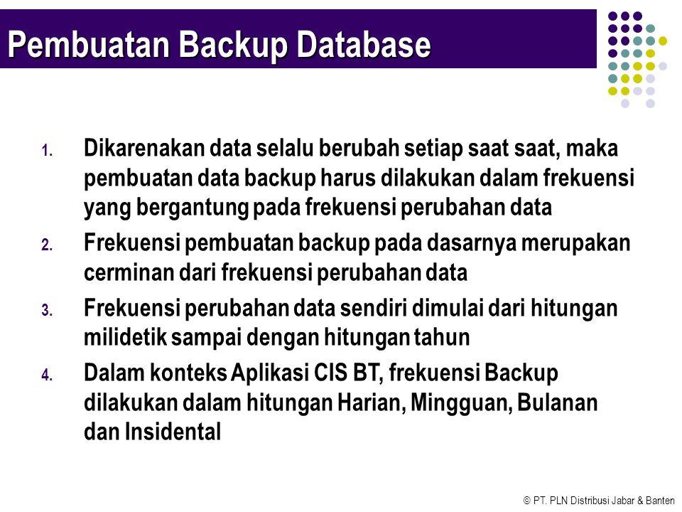 Pembuatan Backup Database
