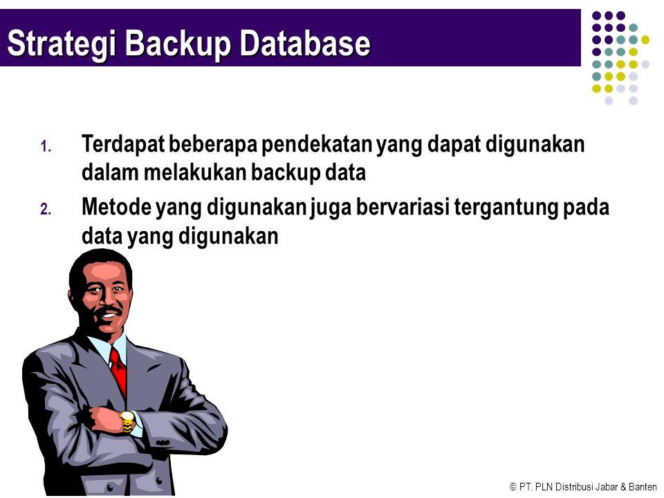 Strategi Backup Database