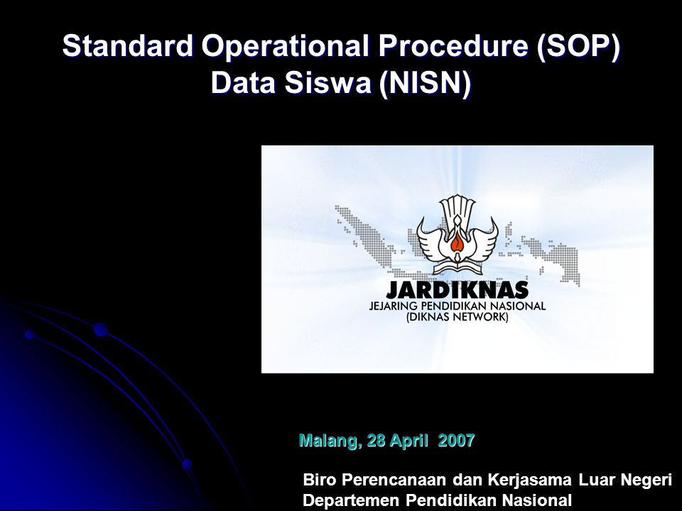 Standard Operational Procedure (SOP) Data Siswa (NISN)