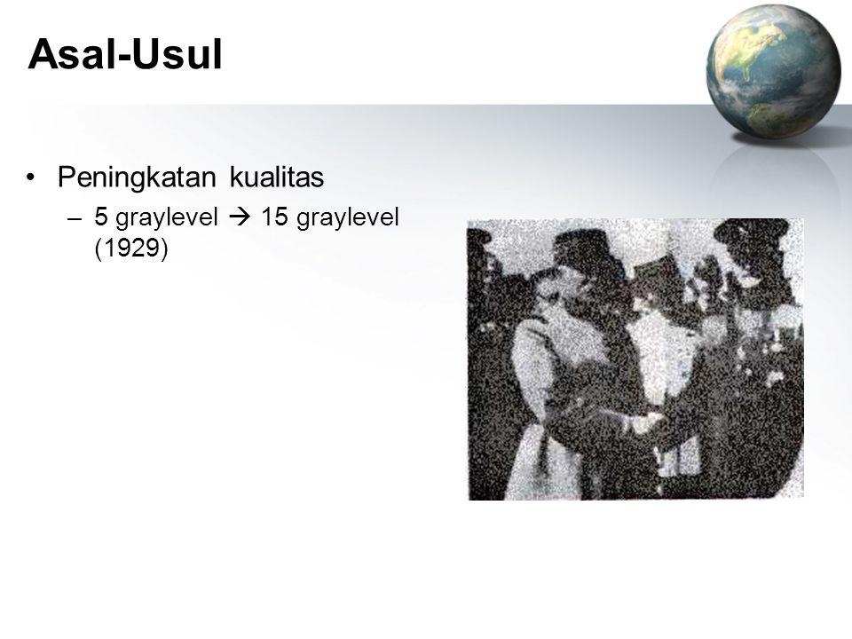 Asal-Usul Peningkatan kualitas 5 graylevel  15 graylevel (1929)