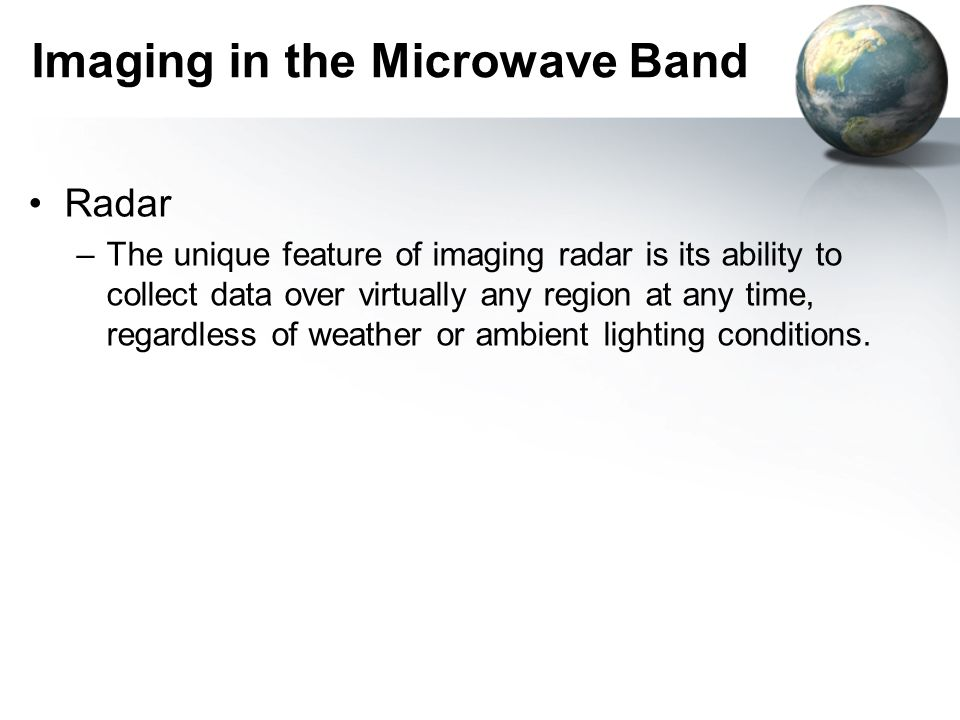 Imaging in the Microwave Band