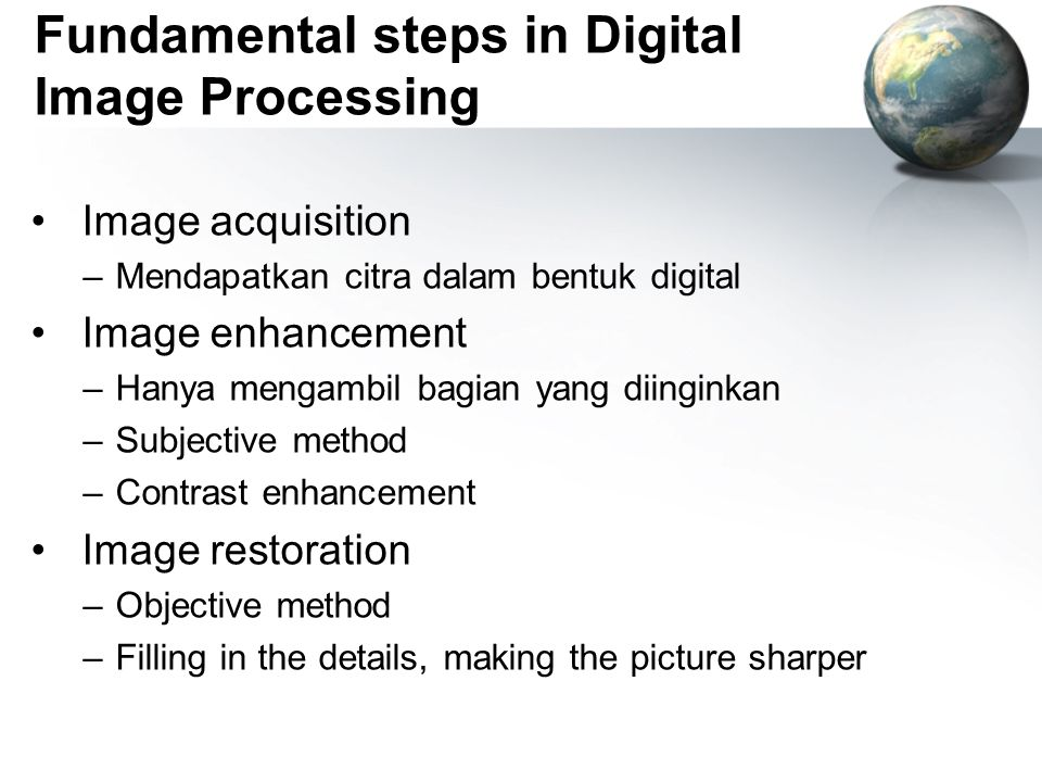 Fundamental steps in Digital Image Processing