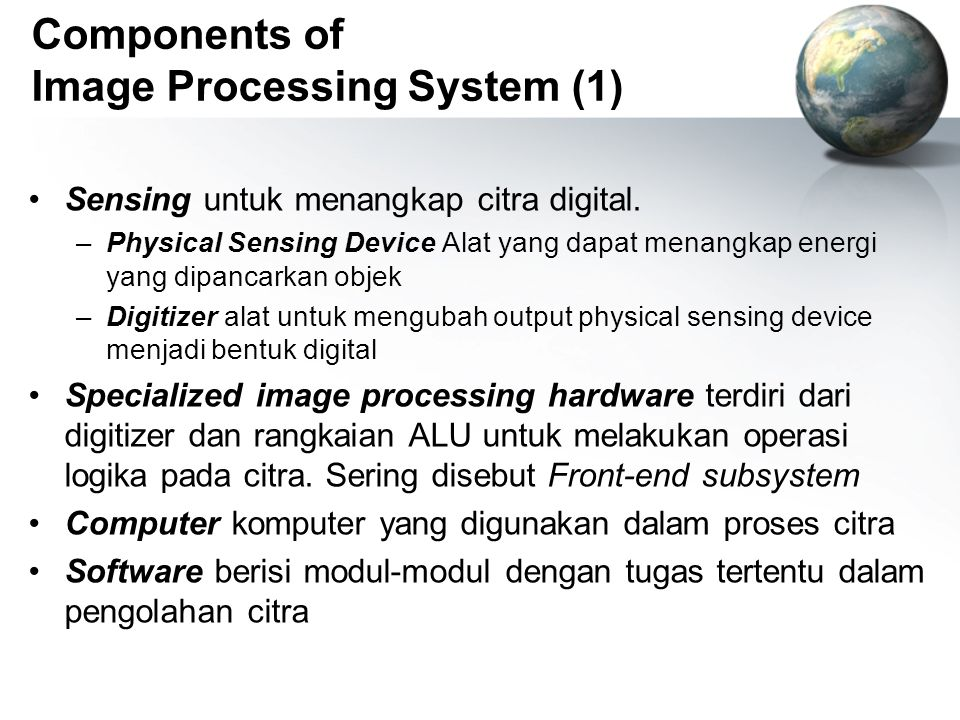 Components of Image Processing System (1)