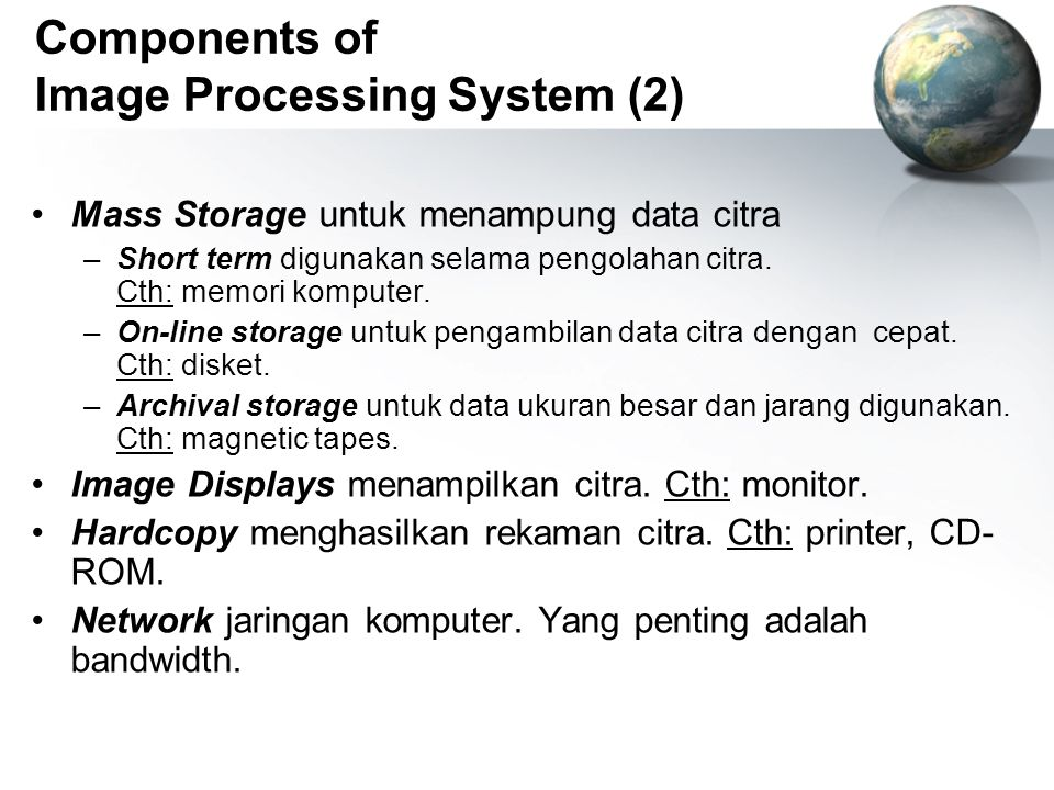 Components of Image Processing System (2)