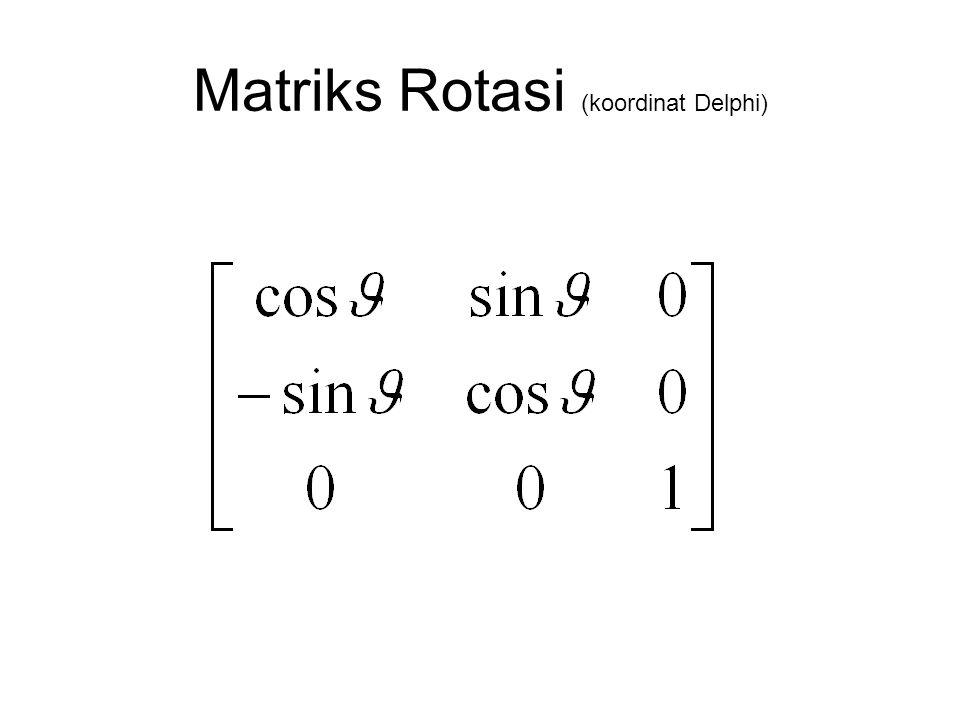 Matriks Rotasi (koordinat Delphi)