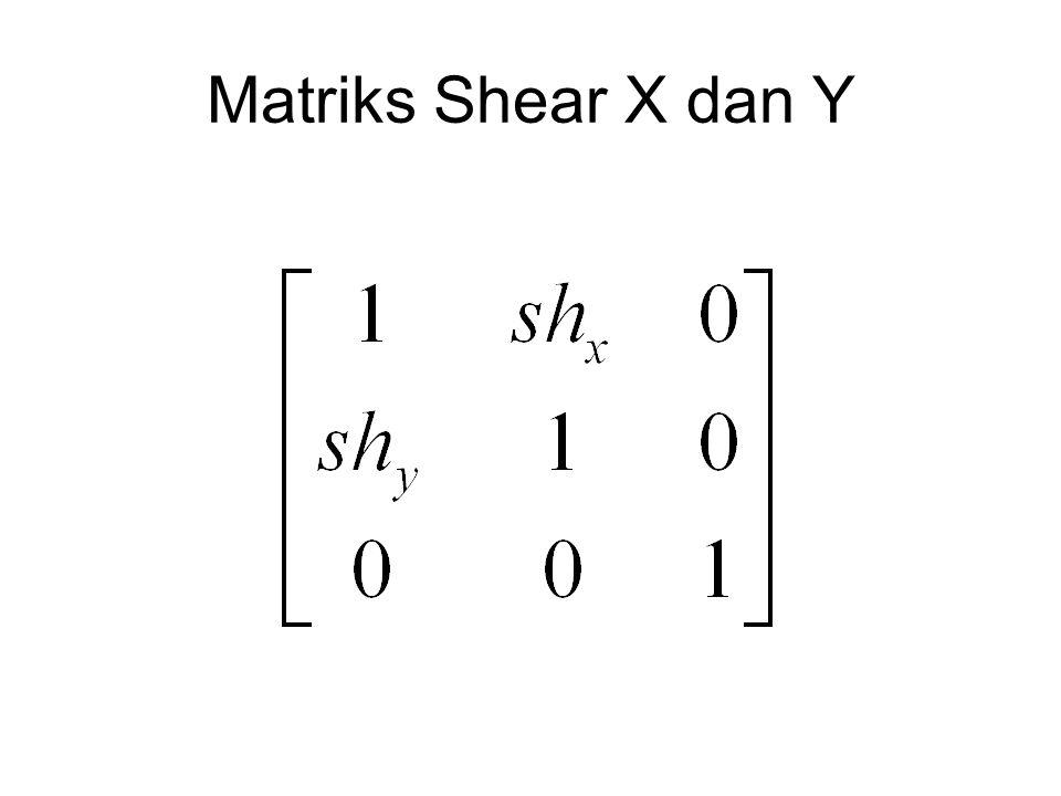 Matriks Shear X dan Y