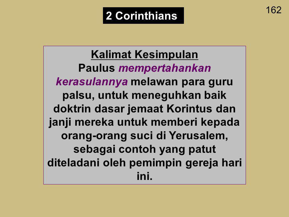 2 Corinthians Kalimat Kesimpulan