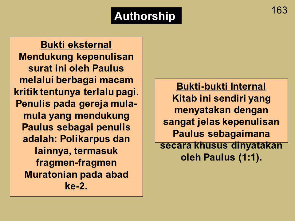 Authorship 163 Bukti eksternal
