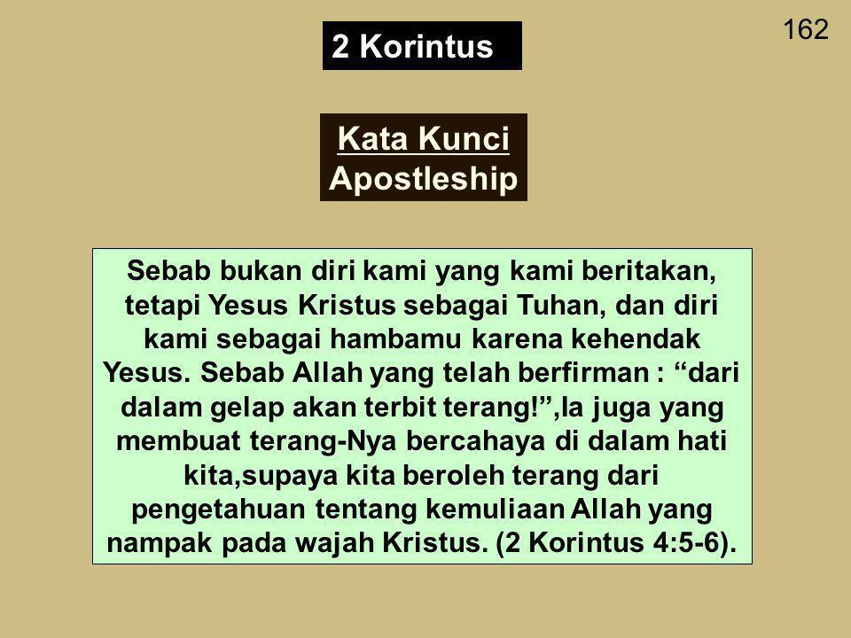 2 Korintus Kata Kunci Apostleship