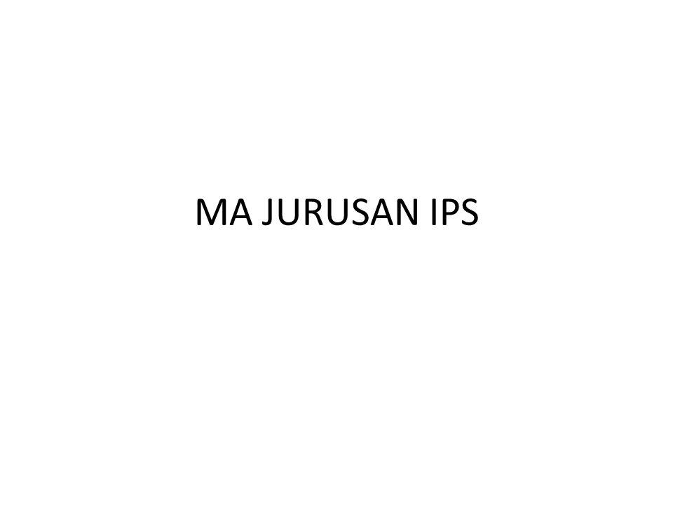 MA JURUSAN IPS