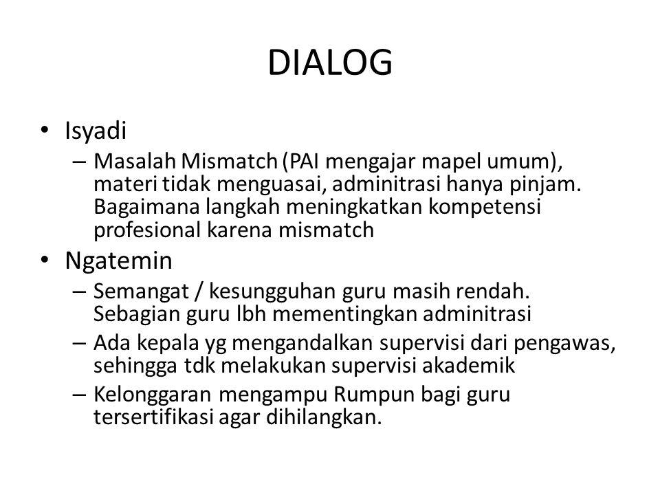 DIALOG Isyadi Ngatemin