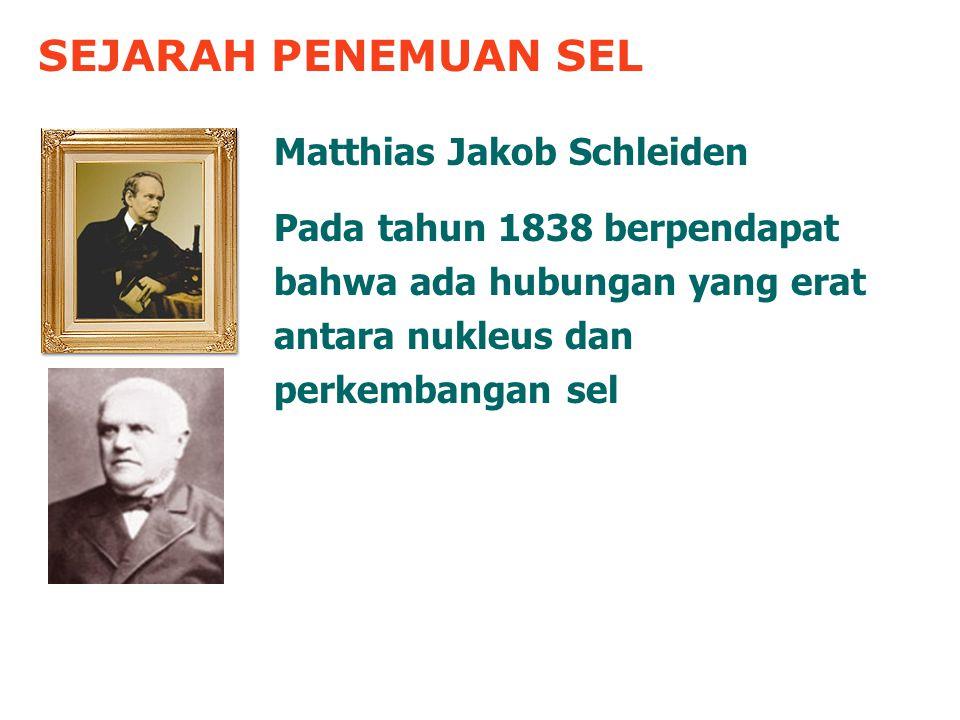 SEJARAH PENEMUAN SEL Matthias Jakob Schleiden