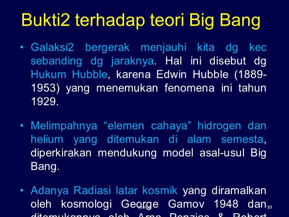 Bukti2 terhadap teori Big Bang