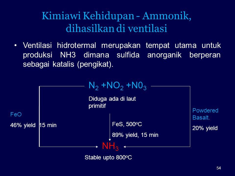 Kimiawi Kehidupan - Ammonik, dihasilkan di ventilasi