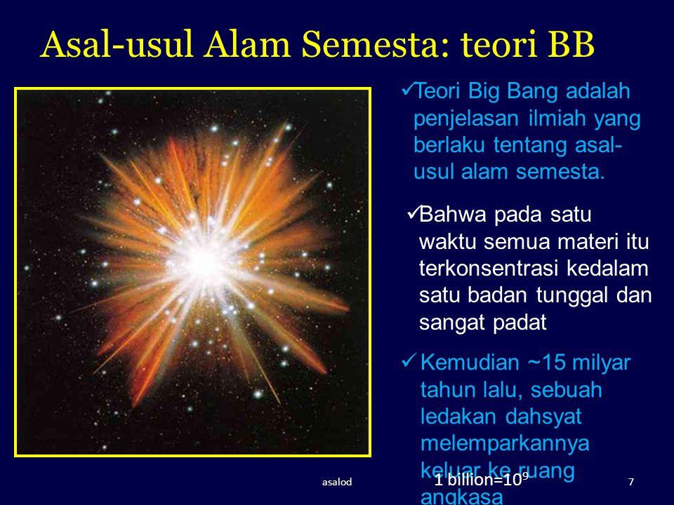 Asal-usul Alam Semesta: teori BB