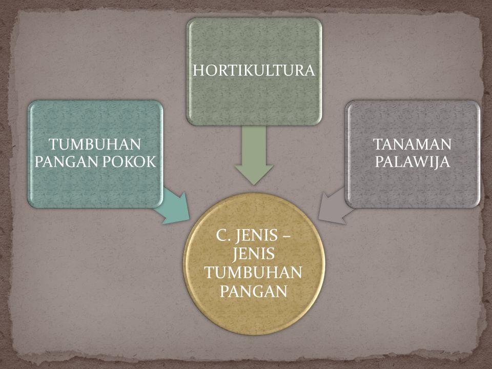C. JENIS – JENIS TUMBUHAN PANGAN