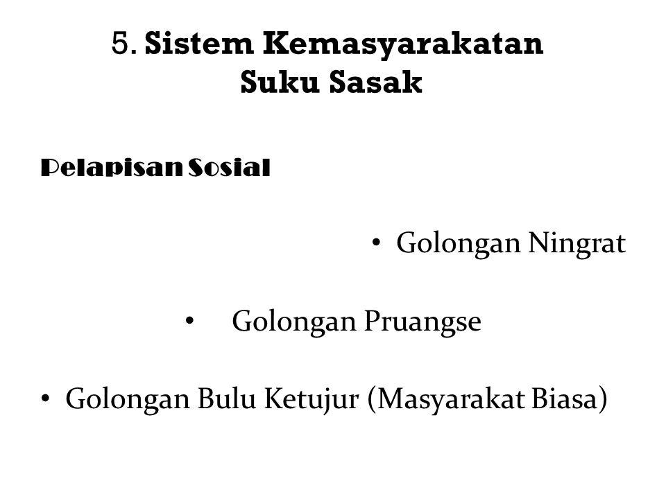 5. Sistem Kemasyarakatan Suku Sasak