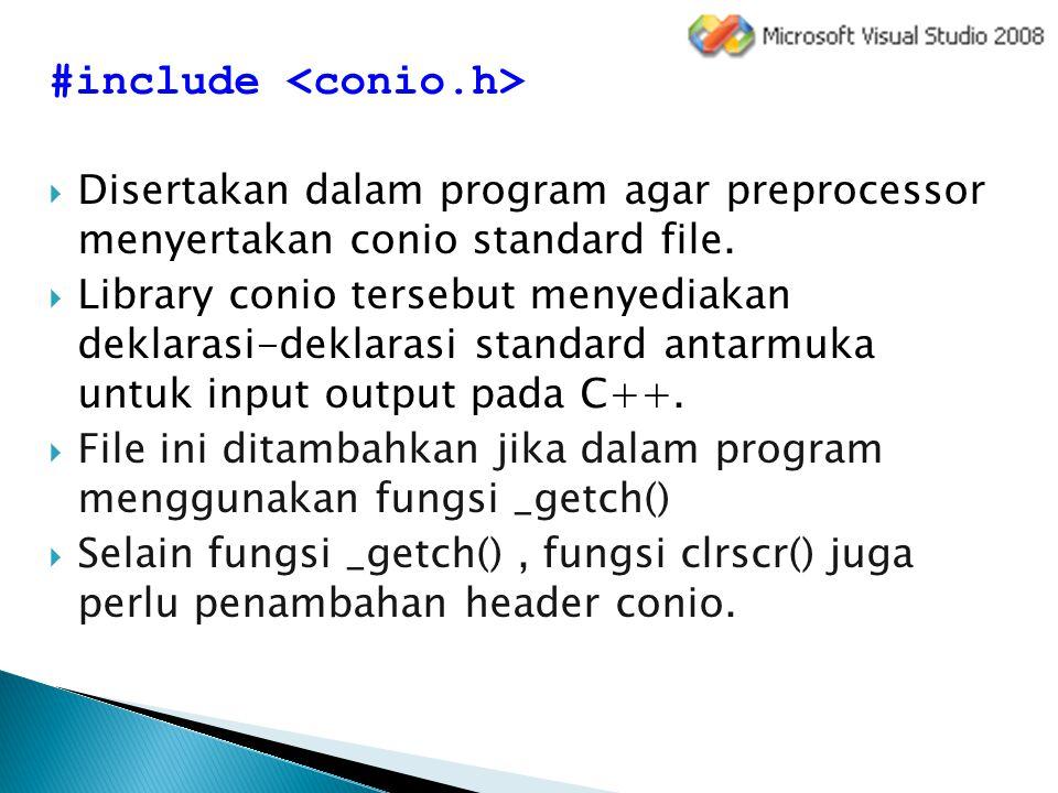 #include <conio.h>
