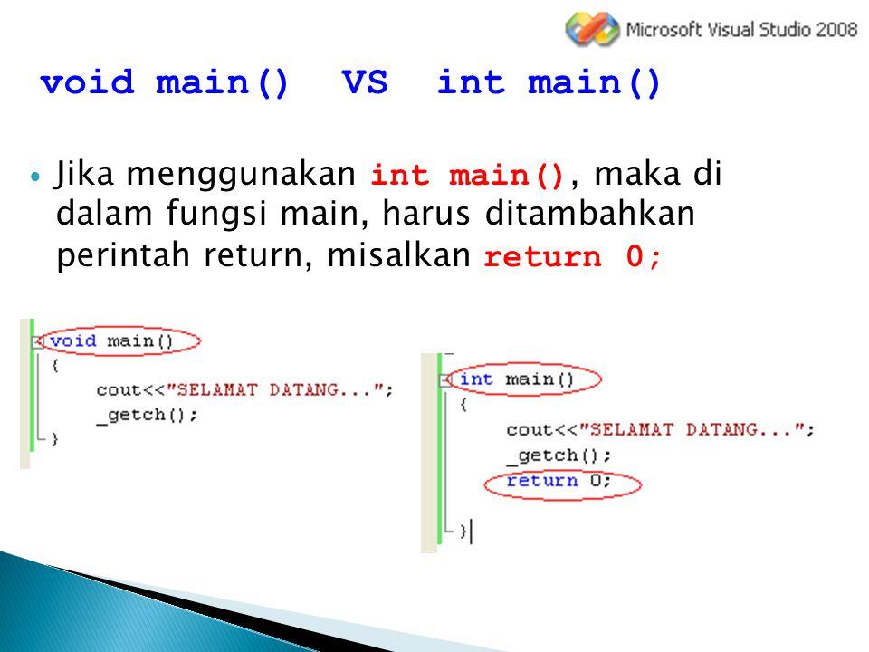 void main() VS int main()