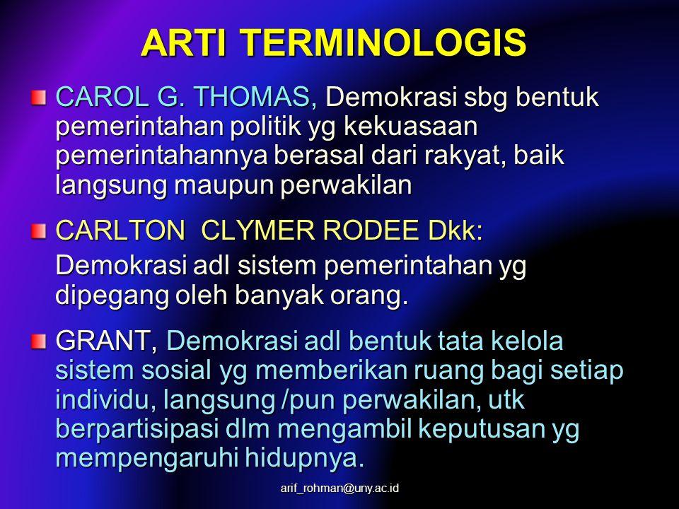 ARTI TERMINOLOGIS