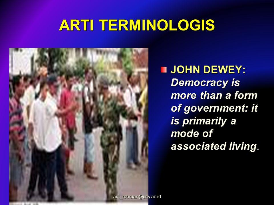 ARTI TERMINOLOGIS JOHN DEWEY: