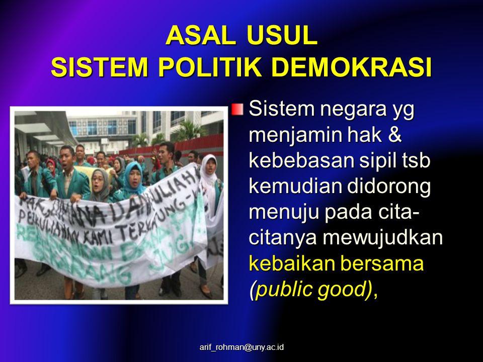 ASAL USUL SISTEM POLITIK DEMOKRASI