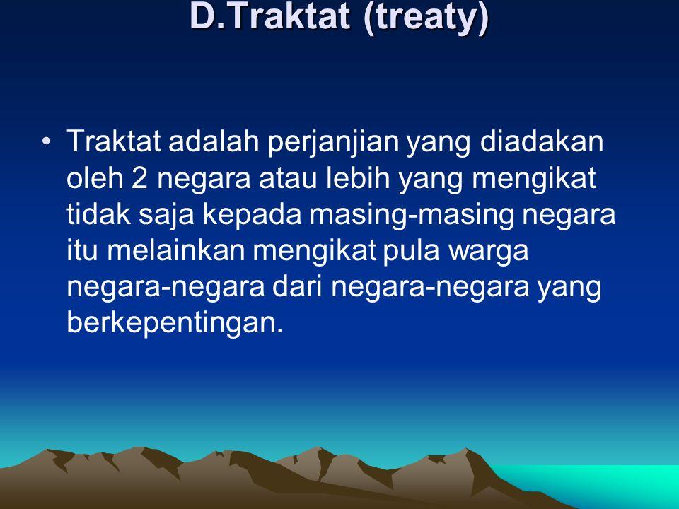 D.Traktat (treaty)