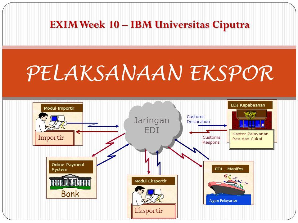 PELAKSANAAN EKSPOR EXIM Week 10 – IBM Universitas Ciputra Importir