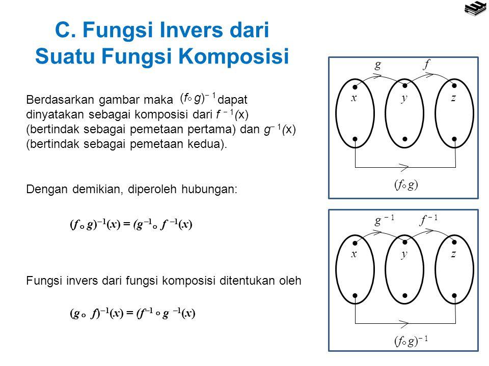 C. Fungsi Invers dari Suatu Fungsi Komposisi