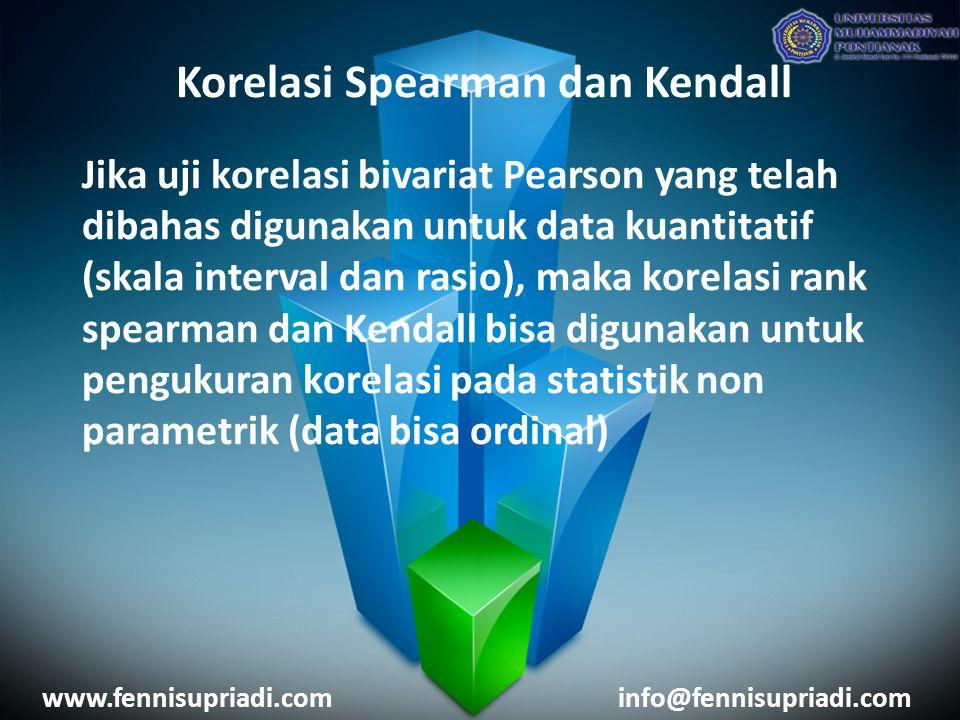 Korelasi Spearman dan Kendall