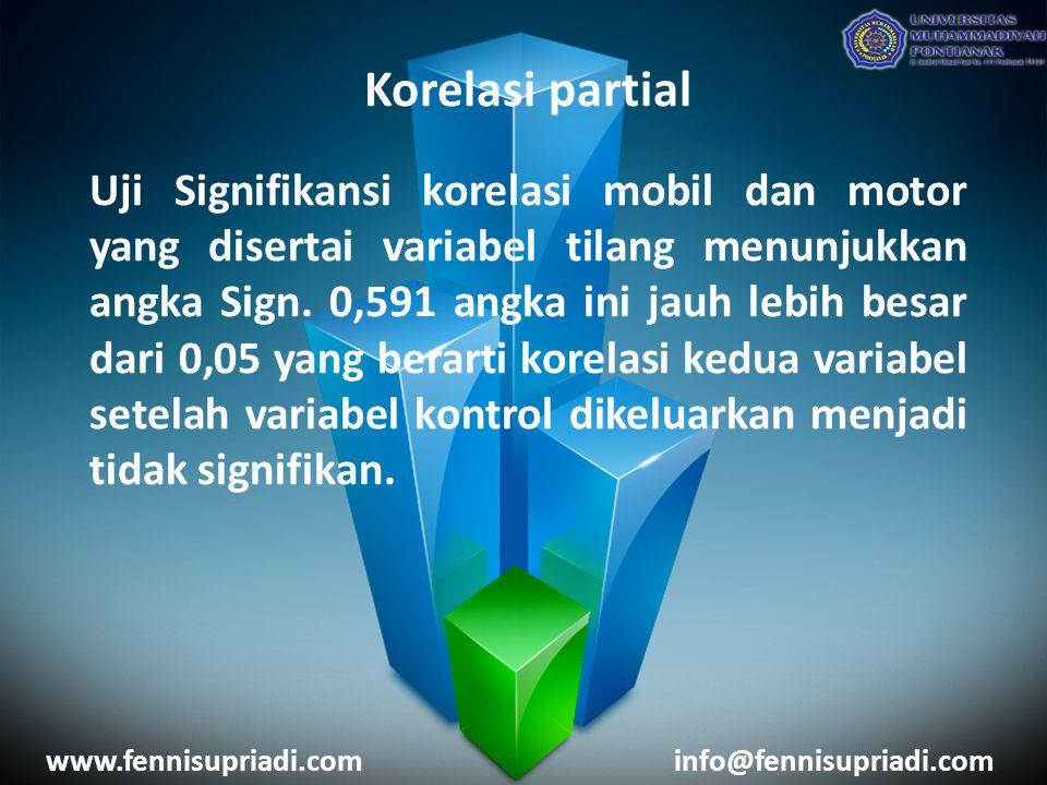 Korelasi partial