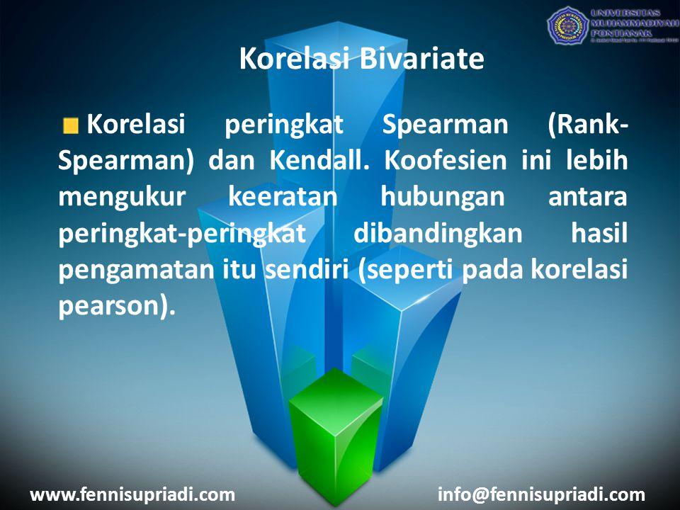 Korelasi Bivariate