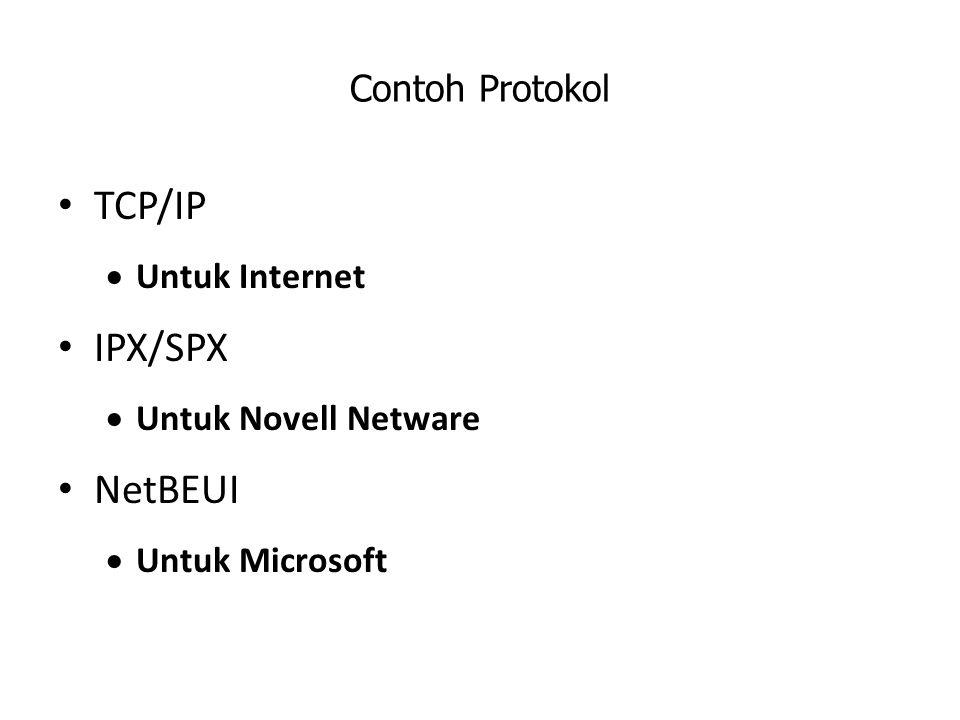 TCP/IP IPX/SPX NetBEUI Contoh Protokol Untuk Internet