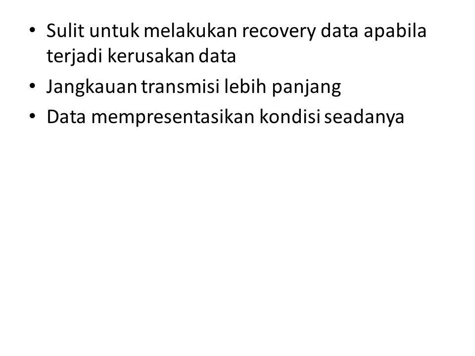 Sulit untuk melakukan recovery data apabila terjadi kerusakan data