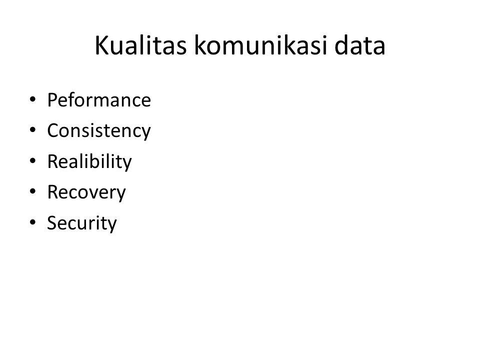 Kualitas komunikasi data