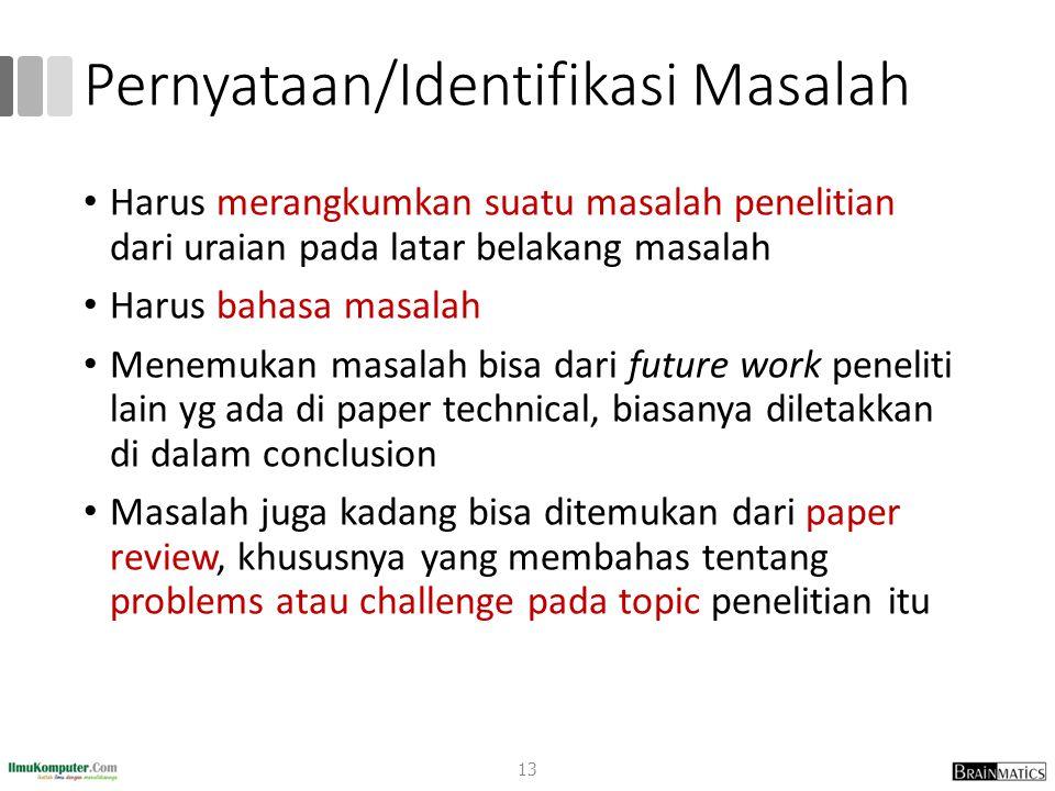 Pernyataan/Identifikasi Masalah
