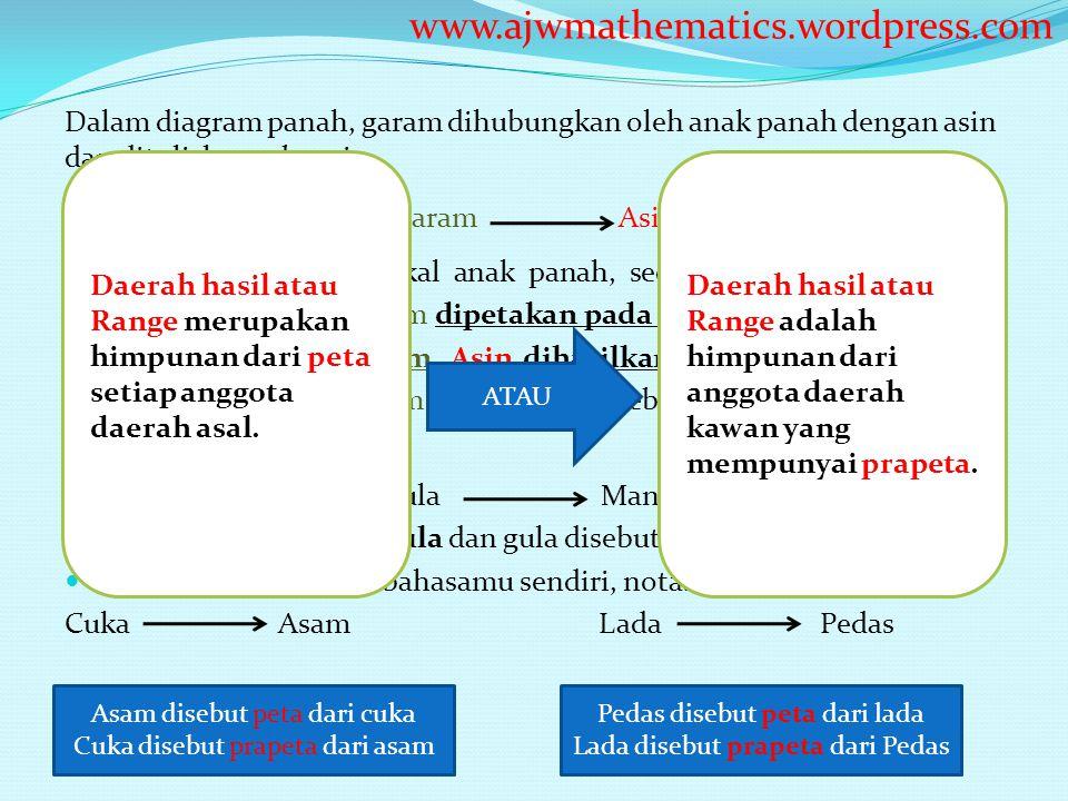 Function and mapping ppt download ajwmathematicswordpress dalam diagram panah garam dihubungkan oleh anak panah ccuart Choice Image