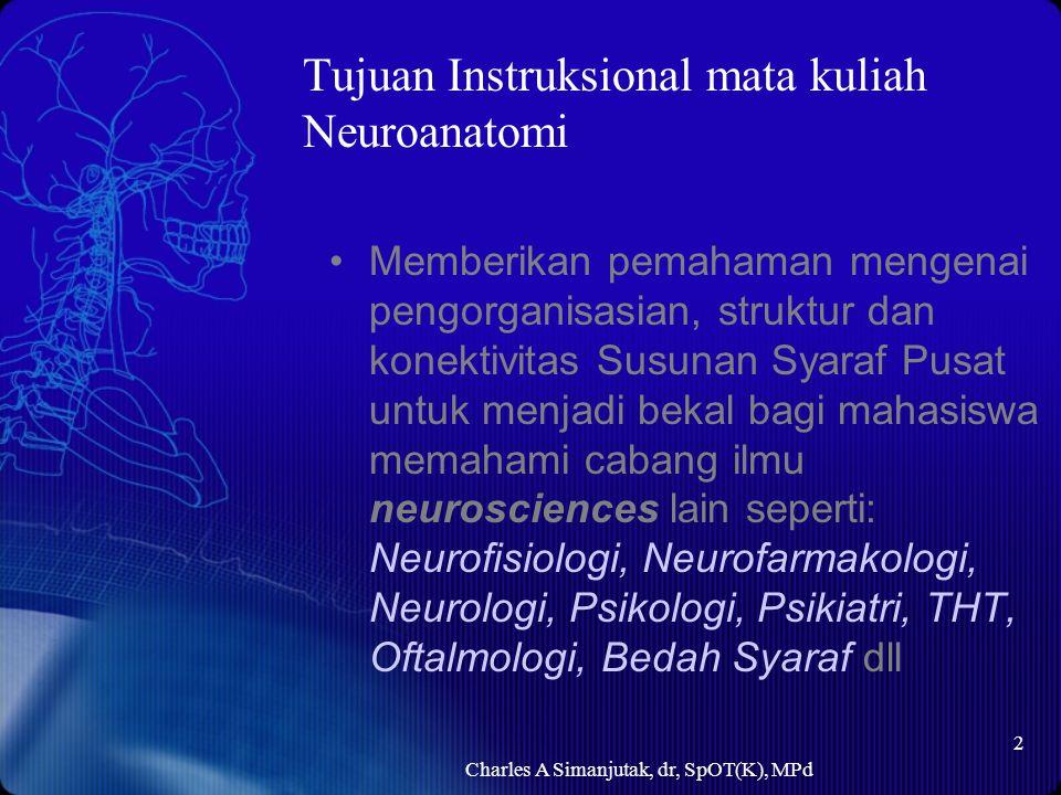 Tujuan Instruksional mata kuliah Neuroanatomi