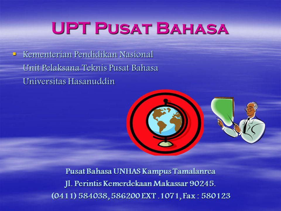 UPT Pusat Bahasa Kementerian Pendidikan Nasional