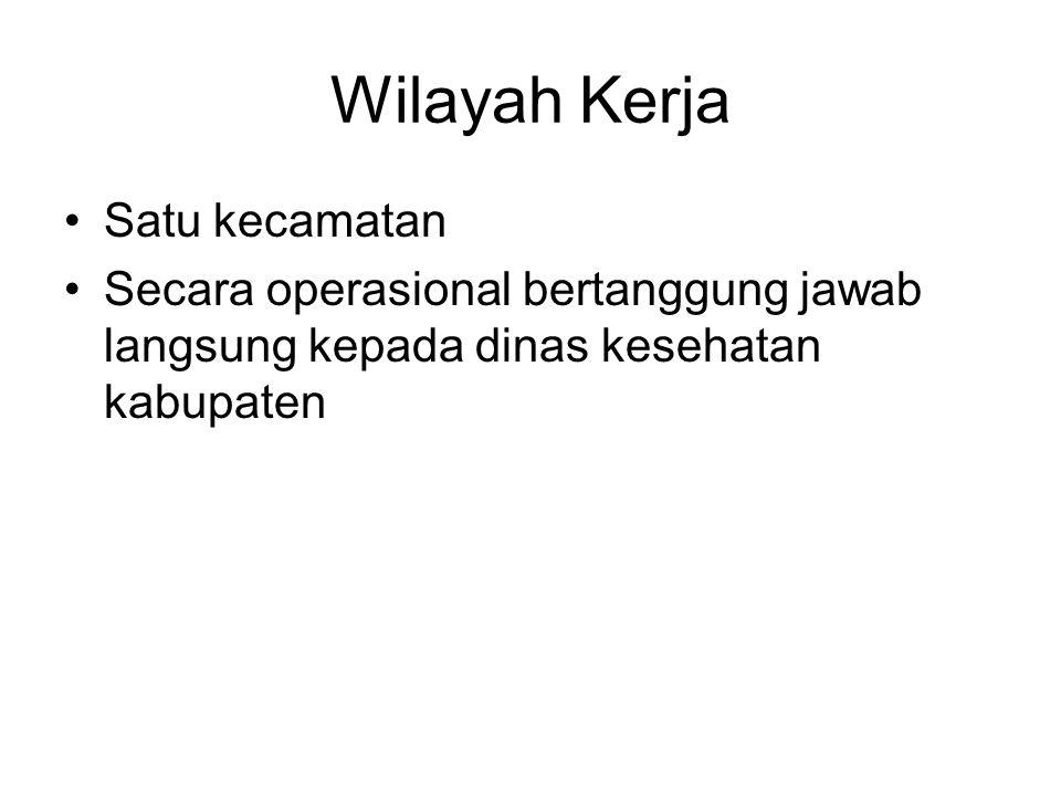 Wilayah Kerja Satu kecamatan