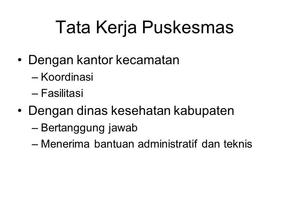 Tata Kerja Puskesmas Dengan kantor kecamatan