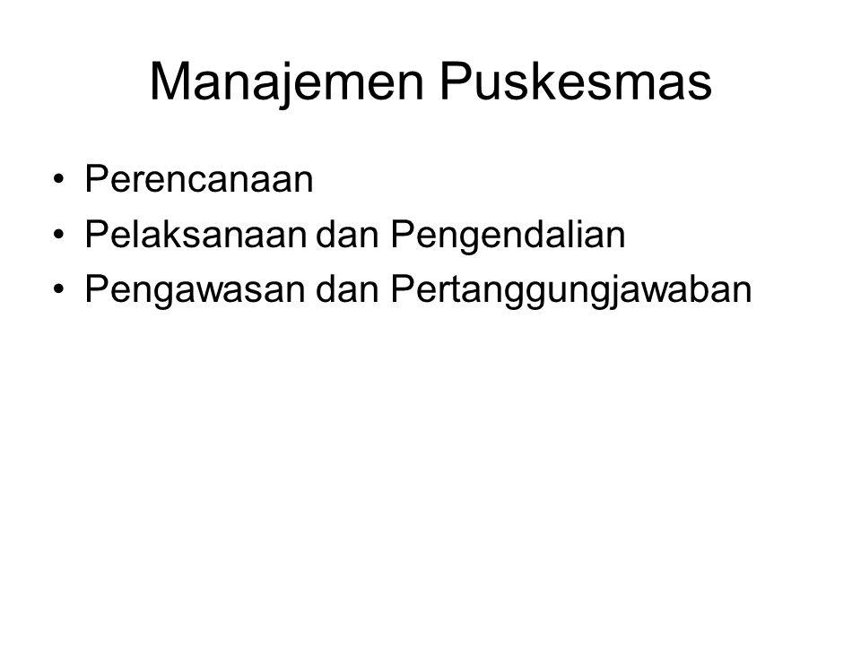Manajemen Puskesmas Perencanaan Pelaksanaan dan Pengendalian