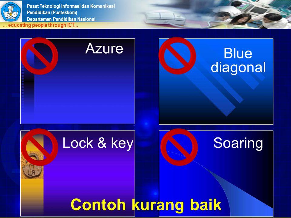Azure Blue diagonal Lock & key Soaring Contoh kurang baik