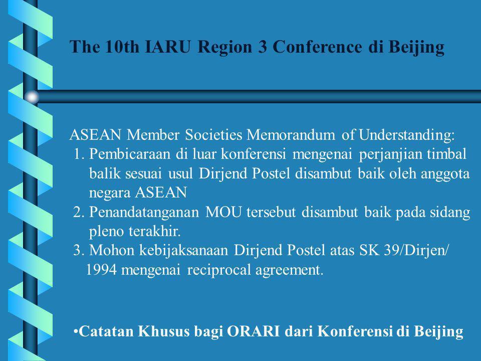 The 10th IARU Region 3 Conference di Beijing