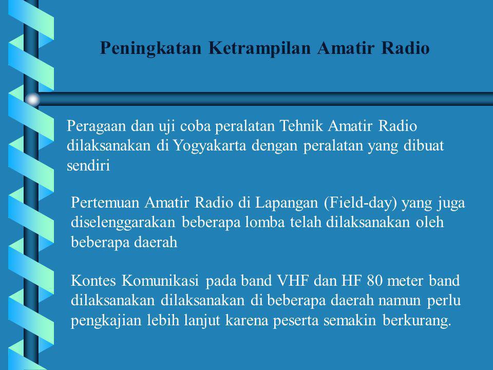 Peningkatan Ketrampilan Amatir Radio