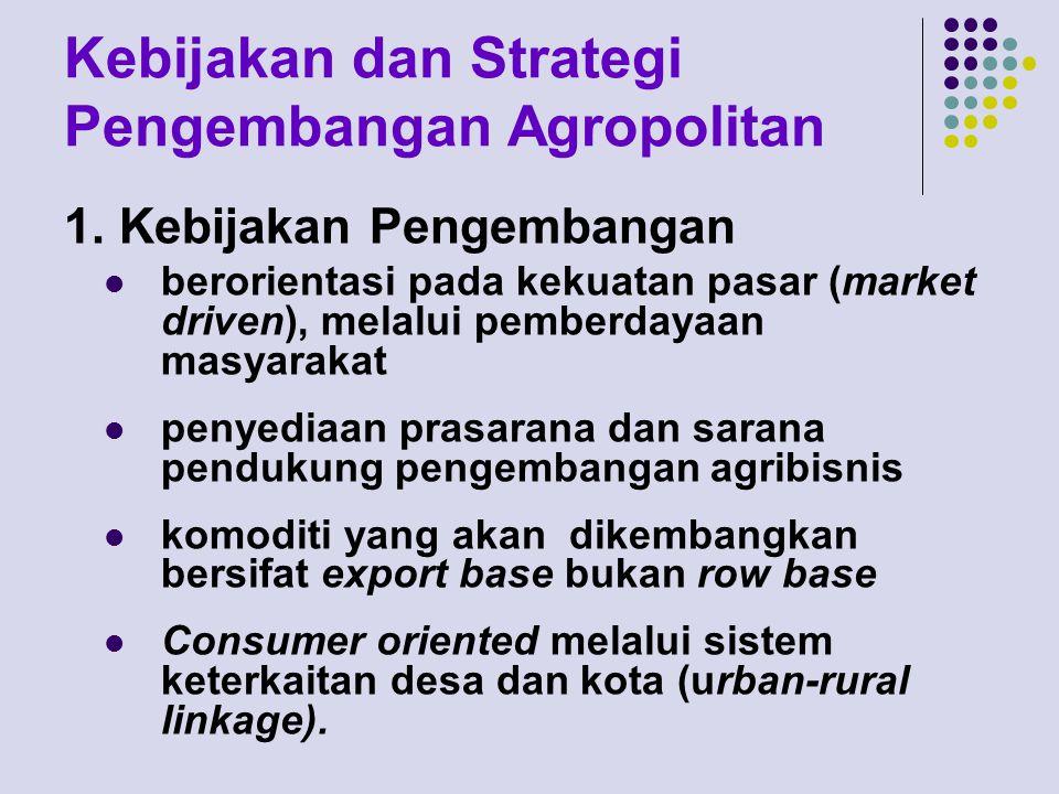 Kebijakan dan Strategi Pengembangan Agropolitan