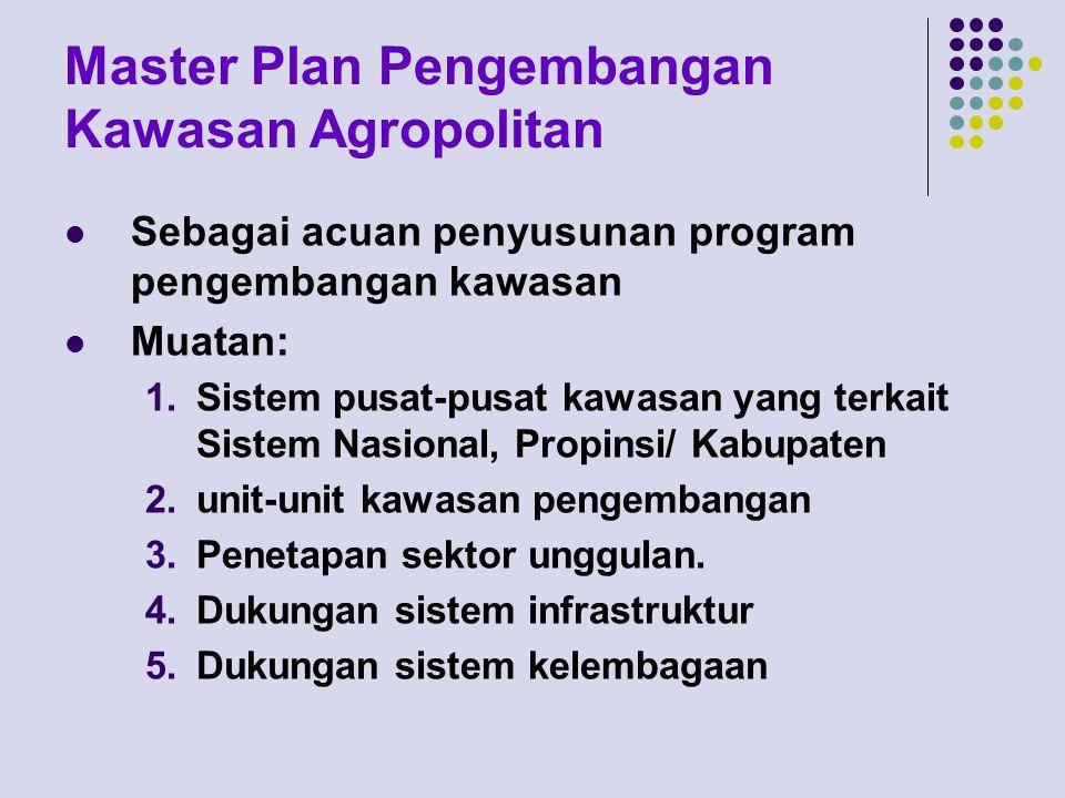 Master Plan Pengembangan Kawasan Agropolitan