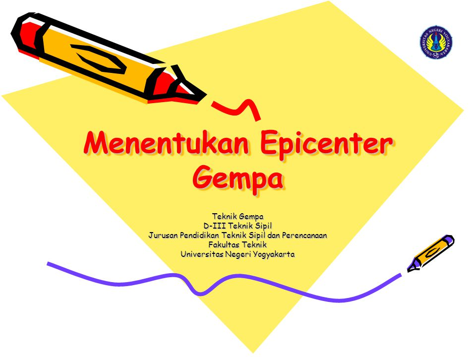 Menentukan Epicenter Gempa