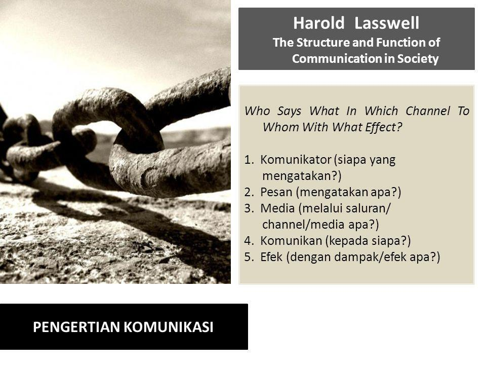 The Structure and Function of Communication in Society