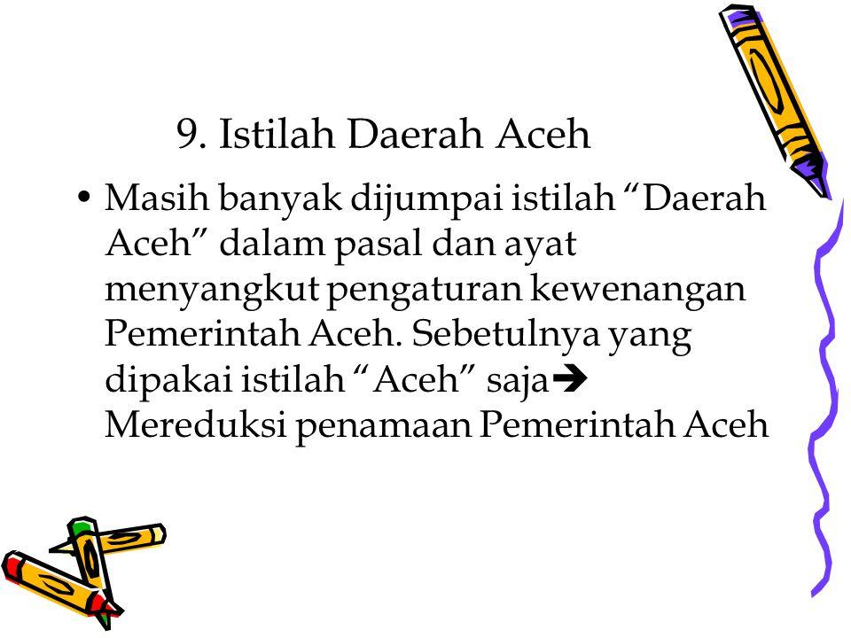 9. Istilah Daerah Aceh